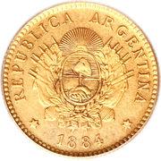 2½ Pesos / ½ Argentino -  obverse