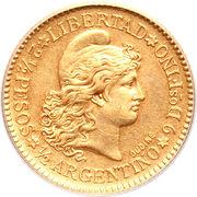 2½ Pesos / ½ Argentino – reverse