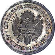 40 Centavos Fuertes – reverse
