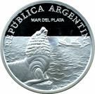 1 Peso (Mar del Plata - Silver Proof Issue) – obverse