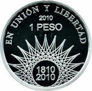 1 Peso (Mar del Plata - Silver Proof Issue) -  reverse
