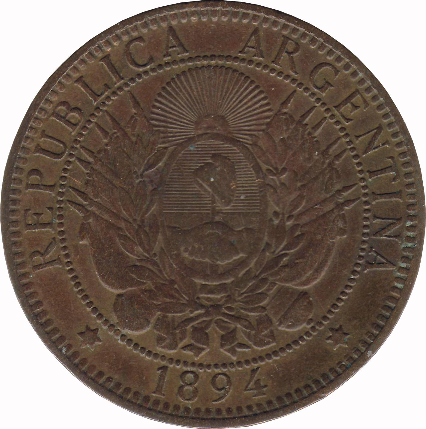 2 Centavos Argentine Numista