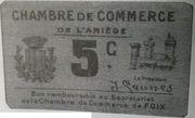 5 centimes - Chambre de commerce de l'Ariège [09] – obverse