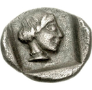 Obol (Mantineia) – reverse