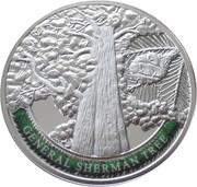 100 Dram (General Sherman Tree) – reverse