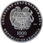 1000 Dram (Andranik Ozanyan) – obverse
