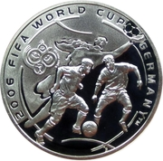 100 Dram (FIFA World Cup Soccer Games - Germany) -  reverse