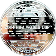100 Dram (2014 FIFA World Cup in Brasil) -  reverse