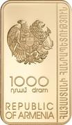 1000 Dram (Relics of Nshan) -  obverse