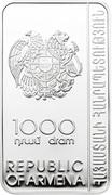 1000 Dram (Sanahin Monastery) -  obverse