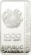 1000 Dram (Noravank Monastery) -  obverse
