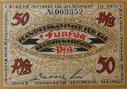 50 Pfennig (Handelskammer für das südöstliche Westfalen) – obverse