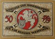 50 Pfennig (Handelskammer für das südöstliche Westfalen) – reverse