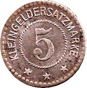 5 Pfennig - Arnstadt – reverse