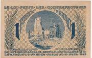 1 Franc - Chambres de Commerce d' Arras – reverse