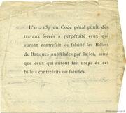 1 franc - Chambre de Commerce d'Arras [62] – reverse