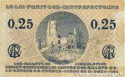 25 centimes - Chambre de Commerce d'Arras [62] – reverse