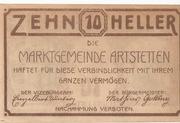 10 Heller (Artstetten) – reverse