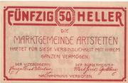 50 Heller (Artstetten) – reverse