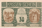 30 Heller (Artstetten) – obverse