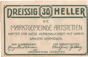30 Heller (Artstetten) – reverse