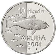 10 Florin - Beatrix (Fish) -  reverse