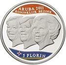 5 Florin - Beatrix (Royal visit) – reverse
