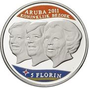 5 Florin - Beatrix (Royal visit) -  reverse