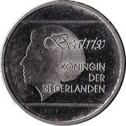 1 Florin - Beatrix (magnetic) -  obverse