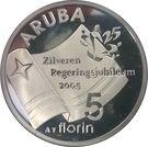 5 Florin - Beatrix (Silver jubilee) – reverse