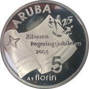 5 Florin - Beatrix (Silver jubilee) -  reverse