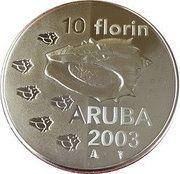10 Florin - Beatrix (Shellfish) -  reverse