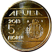 5 Florin - Beatrix (Abdication) -  reverse
