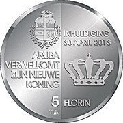 5 Florin - Willem-Alexander (Investiture) -  reverse