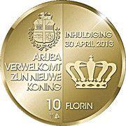 10 Florin - Willem-Alexander (Investiture) -  reverse