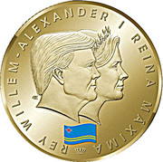 5 Florin - Willem-Alexander (1 Year Anniversary Kingship) -  obverse
