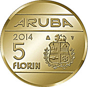 5 Florin - Willem-Alexander (1 Year Anniversary Kingship) -  reverse