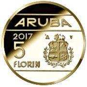 5 Florin - Willem-Alexander (60 Years Aruba Red Cross) -  reverse