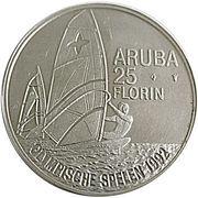 25 Florin - Beatrix (Olympics 1992) -  reverse