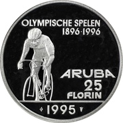 25 Florin - Beatrix (Olympics; without logo) -  reverse