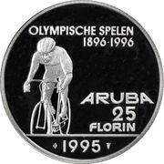 25 Florin - Beatrix (Olympics; without logo) – reverse