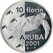 10 Florin - Beatrix (Green Sea Turtles) – reverse