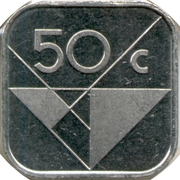 50 Cents - Beatrix / Willem-Alexander (magnetic) -  reverse