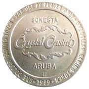 1 Dollar Gaming Token - Crystal Casino (Sonesta, Aruba) – obverse