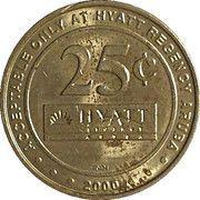 25 Cent Gaming Token - Casino Copa Cabana (Hyatt Regency Aruba) – reverse
