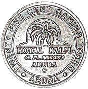 25 Cent Gaming Token - Aruba Royal Palm Casino – obverse
