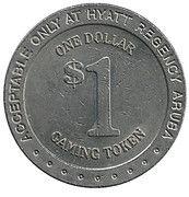 1 Dollar Gaming Token - Hyatt Regency Aruba – reverse