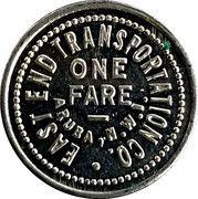 1 Fare - East End Transportation Co. (Aruba, N.W.I.) – reverse