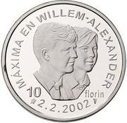 10 Florin - Beatrix (Marriage) -  reverse