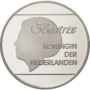 50 Florin - Beatrix (10th Anniversary of Independence) -  obverse